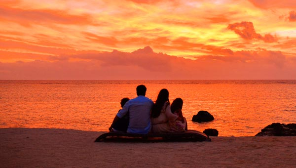 Spectacular sunsets in Mauritius